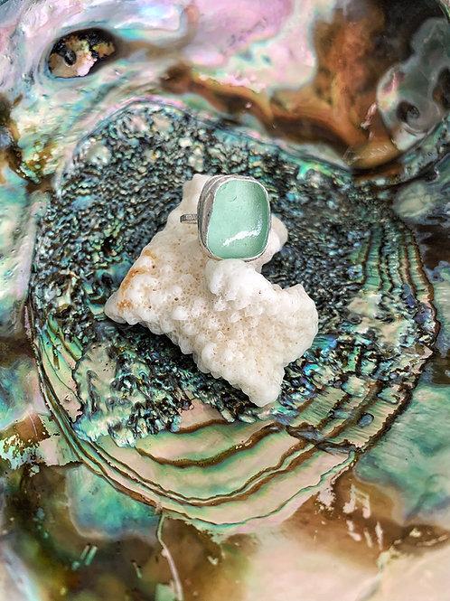 Sea Glass Bezel Ring