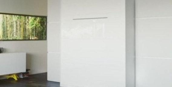 Smartbett opklapbed verticaal 160 x 200 glans wit