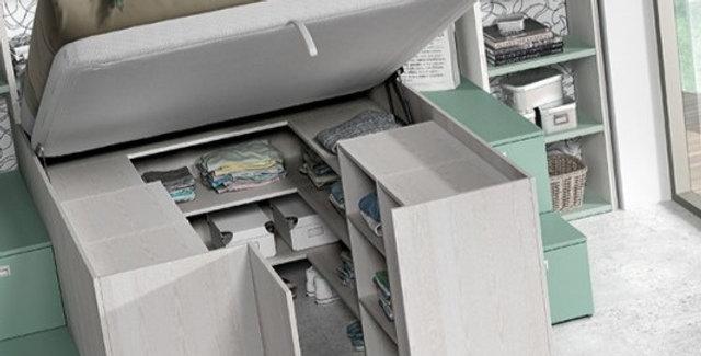 OSLO hoog bed met opbergruimte