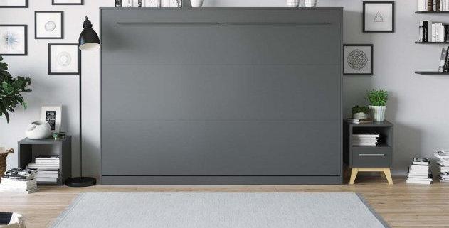 Smartbett opklapbed horizontaal 140 x 200 grijs