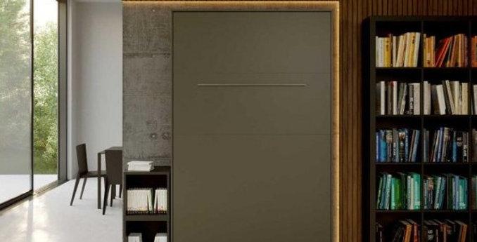 Smartbett opklapbed verticaal 120 x 200 grijs