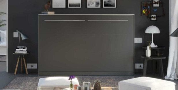 Smartbett opklapbed horizontaal 120 x 200 grijs
