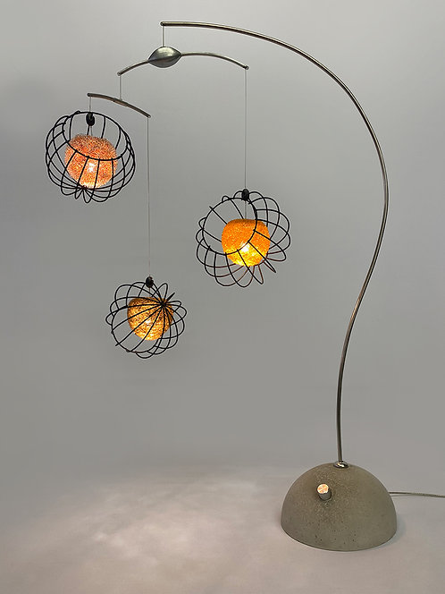 Orbs Table Lamp in Frosted Orange