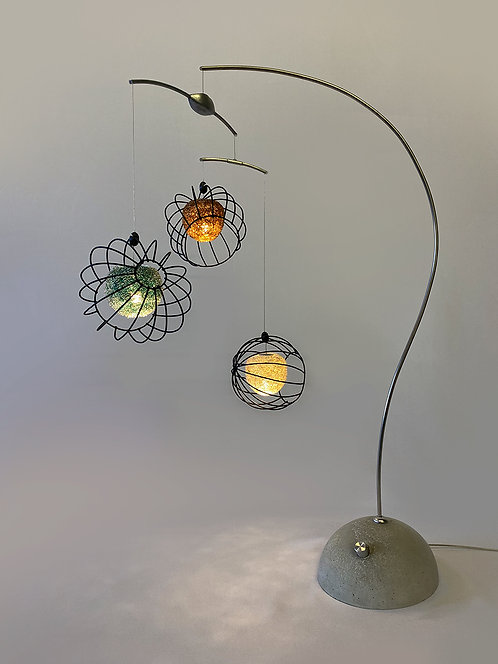 Orbs Table Lamp in Frosted Ocean