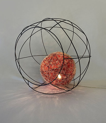 Orb Stabile in Frosted Red - Large