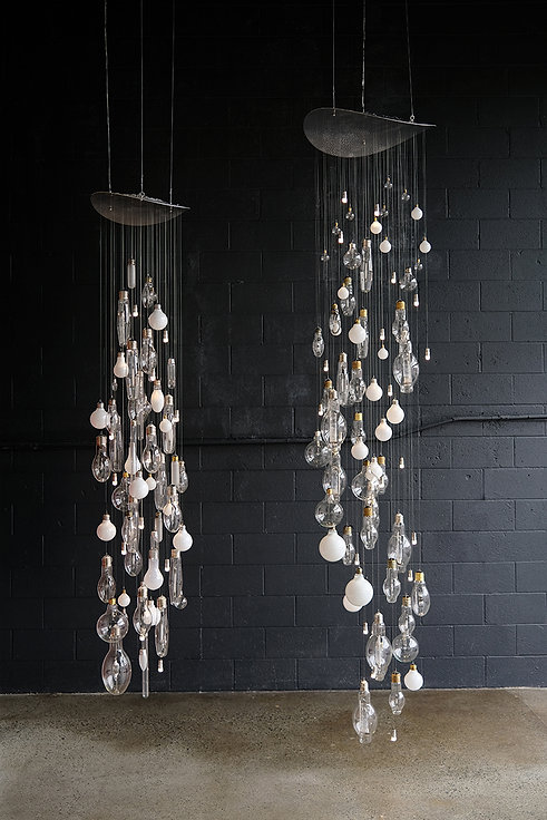Vertical Light Rain by Umbra & Lux - Installation View