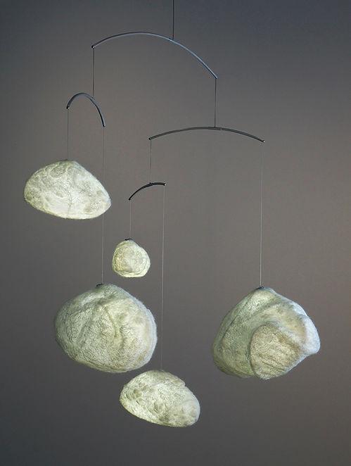 Fluffy Clouds Light Mobile - a collaboration between Umbra & Lux & artist Chantal Cardinal