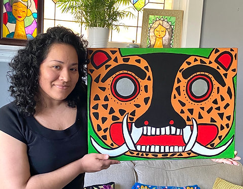 "SOLD ""Michi"" - 18x24 Acrylic on Canvas"