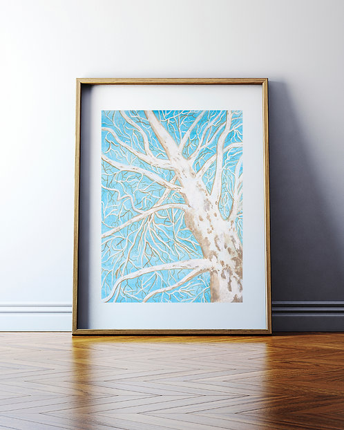 Mighty Sycamore - Painting - Digital Download