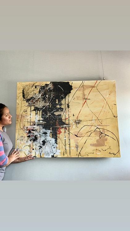 """SOLD """"Soledad"""" 36x48 Acrylic on Canvas"""