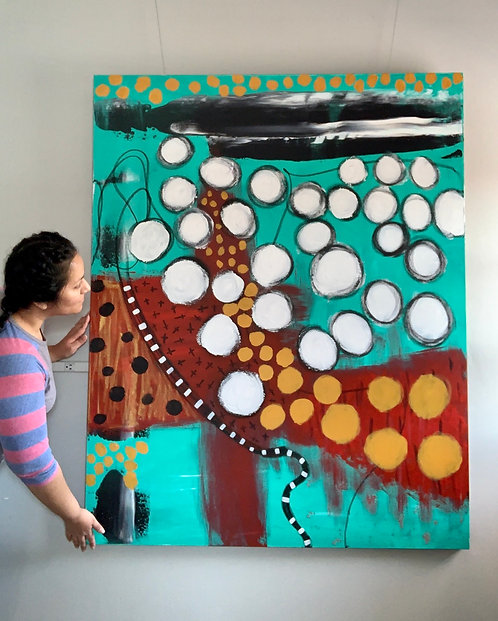 """""""Searching""""- 38x60 Acrylic on Gallery Wrapped Canvas"""