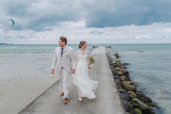 Hochzeit-Stein-Strandtrauung