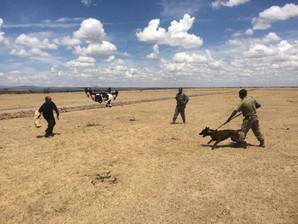 Knox & Leo receive Drone training at Ol pejeta