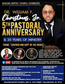 Dr. William F. Christmas, Jr 5th Anniver