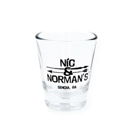 Nic & Norman's Clear Shot Glass