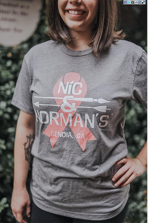 2018 Breast Cancer Awareness Nic & Norman's T-Shirt