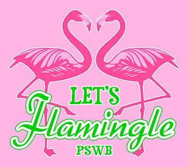 Let's Flamingle shirt design for PSWB.jp
