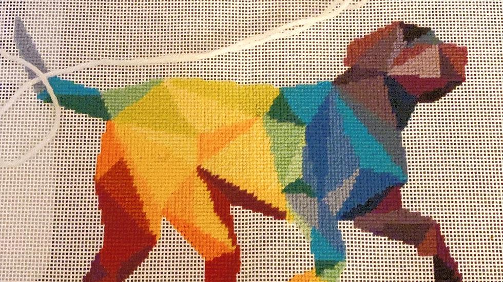 Geometric Rainbow Dog