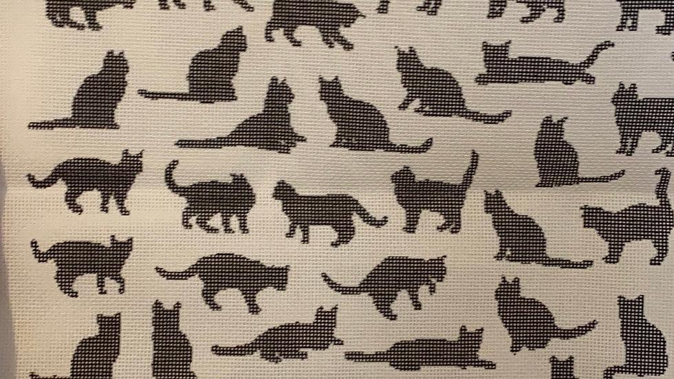 Black cat tapestry