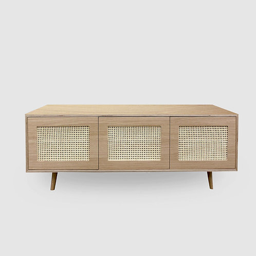 Oak Ply Woven TV Unit