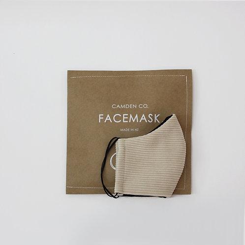 Face Mask- Vanilla Corduroy