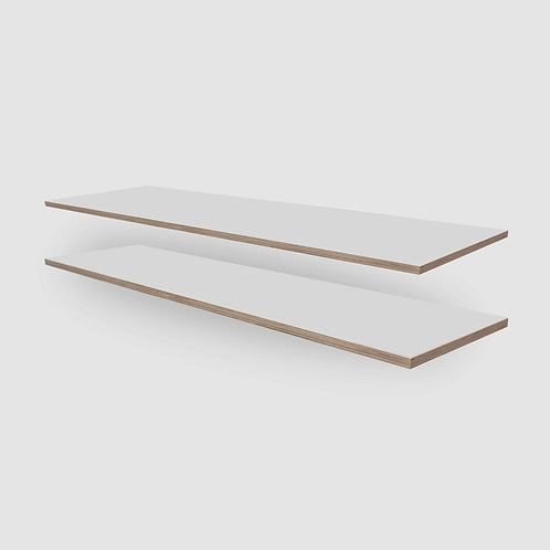 SupaWhite Plywood Shelves - Set of 2