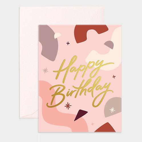 Card Happy Birthday Abstract