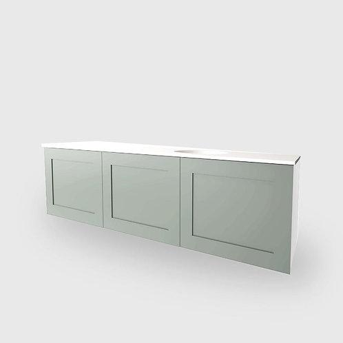 Simple Shaker Vanity - 3 Door Side