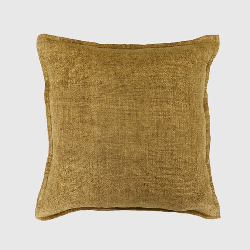 Flaxmill Fenugreek 50x50cm Feather Cushion