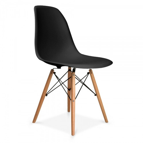 This EAMES Chair Has A Smooth, Semi Gloss Seat Contrasted With Wooden Legs.  This Chair Is Very Comfortable, And Is Contemporary, Stimulating And  Interesting ...