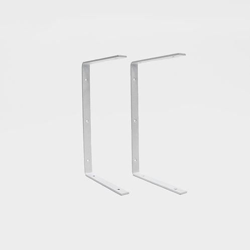 Shelf Brackets - White - Set of 2