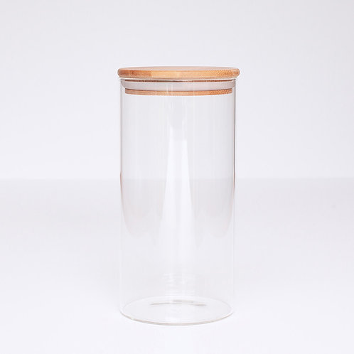 Glass & Bamboo Jar - 1300ml