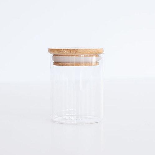 Glass & Bamboo Jar - 450ml