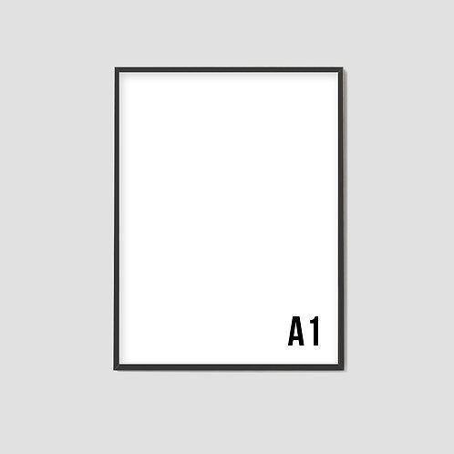 A1 Black Frame