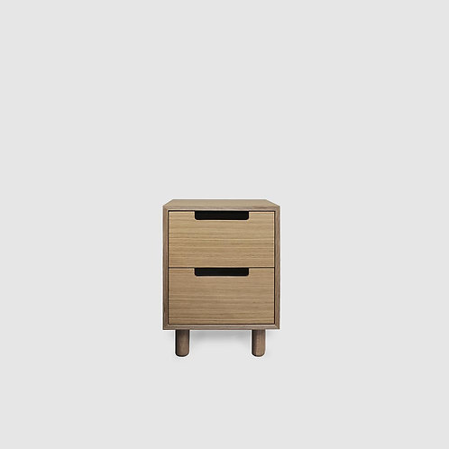 Doug Boxed Oak Plywood 2 Drawer Bedside