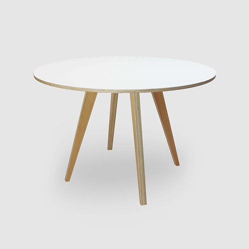 Deluxe Retro Round Plywood Dining Table