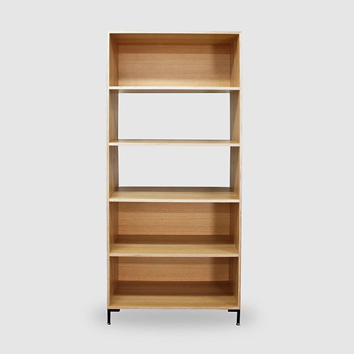Oak Ply Open Book Shelf - Tall