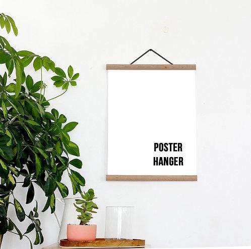 Poster Hanger - Solid Oak