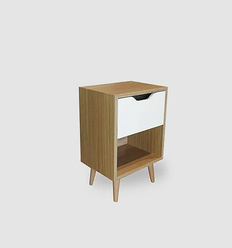 Daniels Oak Plywood 1 Drawer Bedside