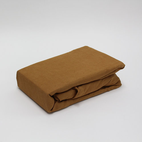 Linen Fitted Sheet - Terracotta