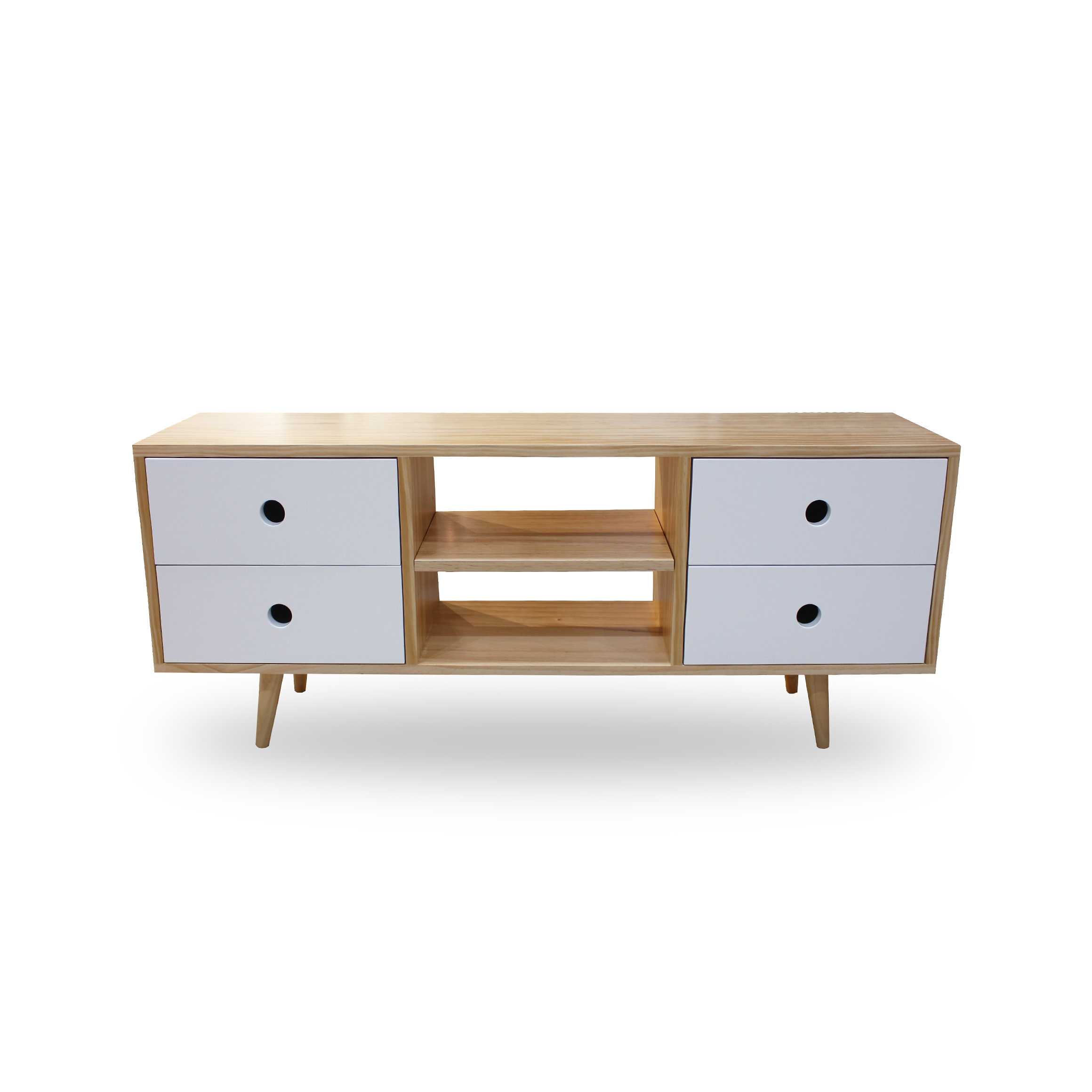 The Mood Store Deluxe Retro Tele Stand With Drawers # Photo Table Tele