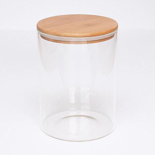 Glass & Bamboo Jar - 3500ml