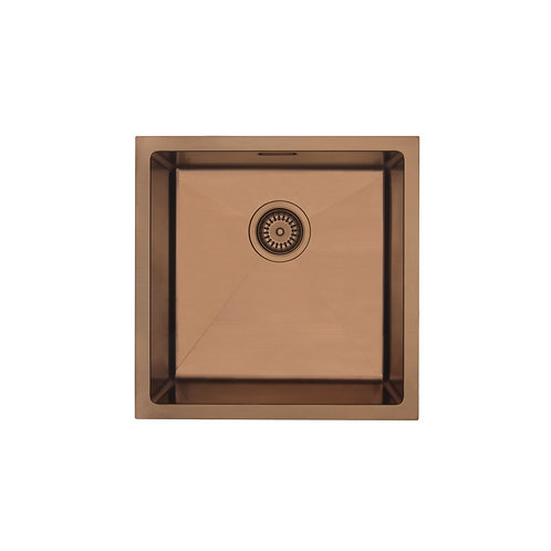 Mercer Aurora Coloured Stainless Sink - Copper 400 x 400mm