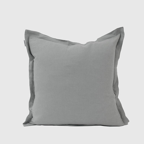 Dove Grey French Linen 50x50 Cushion with Feather Inner