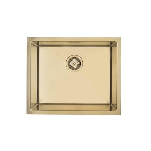 Mercer Aurora Series Coloured Stainless Sink- Brass 500x400
