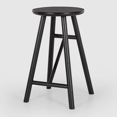 Scandi Bar Stool Black