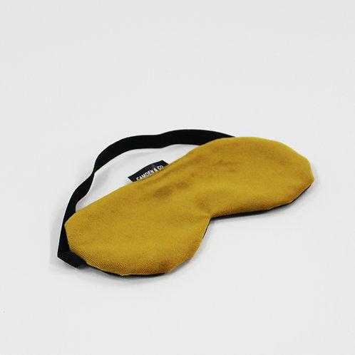 Mustard Velvet Eye Mask