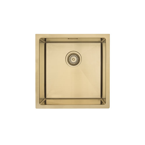 Mercer Aurora Coloured Stainless Sink - Brass 400 x 400mm