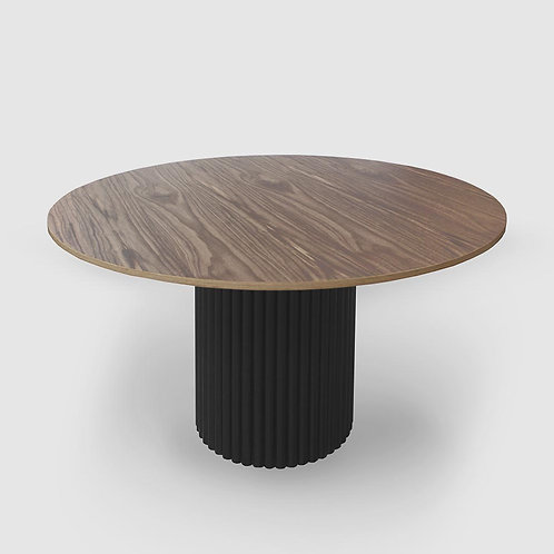 Bloom Walnut Plywood Round Dining Table