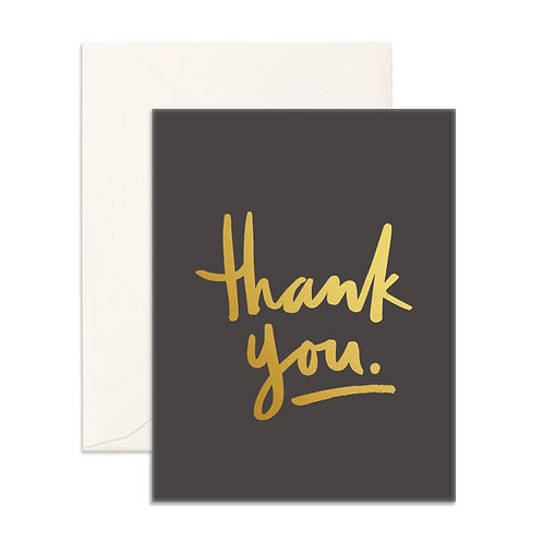 Card Thank You Gold